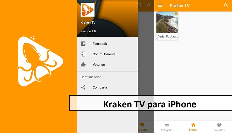 Kraken TV para iPhone