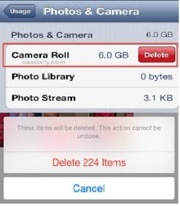 How to delete photos from an iPhone