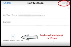 How to Send email attachment on iPhone